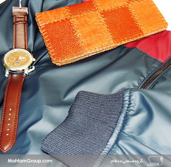 گروه صنعتی مه فام | گالری تصاویر | شرکت چرم مه فامچرم مصنوعی در تولید ساعت چرم برند، کیف پول چرم استفاده می گردد. چرم