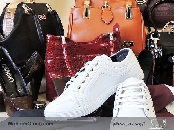 استفاده از چرم مصنوعی در کیف مردانه، کفش مردانه و زنانه و اکسسوری های مردانه و زنانه می باشد